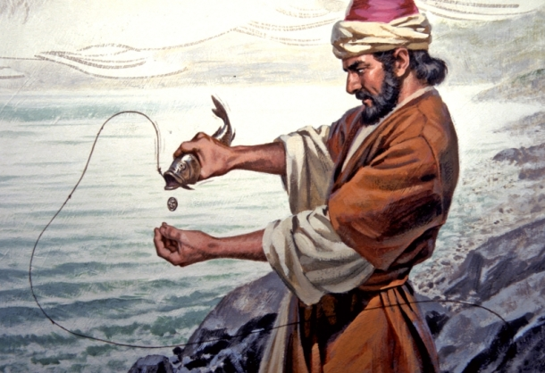 Peter-catches-fish-with-coin-in-mouth2